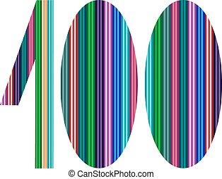 -, getal, illustratie, een, jubileum, th, honderd, honderd