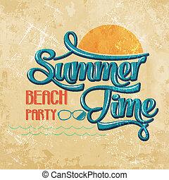 """-, schrijvende , strand, tijd, calligraphic, party"""", """"summer"""
