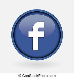 -, verzameling, populair, logo, bedrukt, facebook., maart, witte , paper:, 2, turkije, 2019:, istanboel, media, sociaal