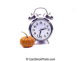 -, voorwerpen, halloween, tijd