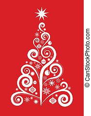 1, boompje, -, kerstmis