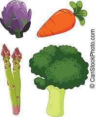 1, groentes, set