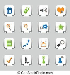 1, web, 16, deel, iconen