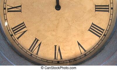 1, wrakkigheid, klok, tijd