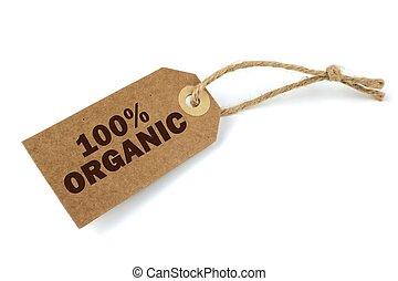 100%, organisch, etiket