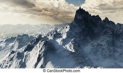 (1068), berg, sneeuw, wildernis, gletsjers