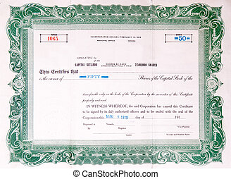 1919, v.s., oud, certificaat, liggen