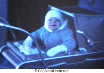 (1963, ouderwetse , 8mm), -, baby, kinderwagen