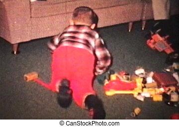 (1965), jongen, klappen, zijn, zuster, baby
