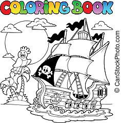 2, scheeps , kleuren, zeerover, boek