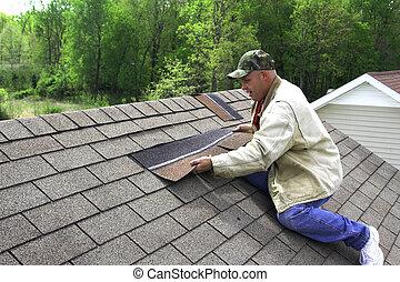 2, werkende , dak
