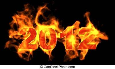 2012, wi, jaar, nieuw, 2012, vrolijke