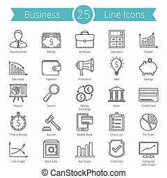 25, lijn, zakenbeelden