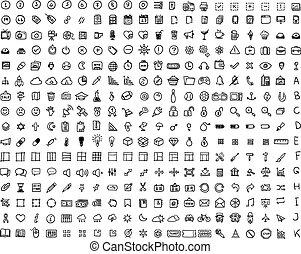 320, set, pictogram