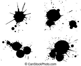 4, splats, black