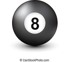 8 bal, getal, pool
