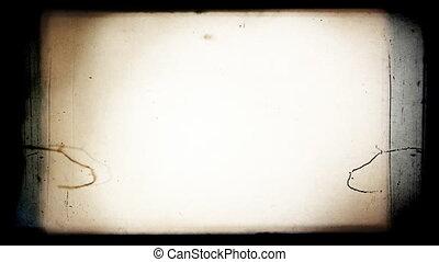 8, film, frame., mm, het knipperen, ouderwetse