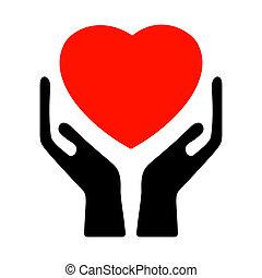 8, heart., eps, holdingshanden