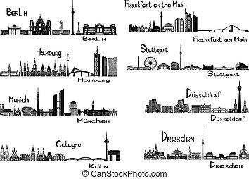 8, steden, duitsland