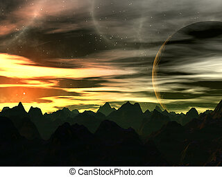 8, xilis, ondergaande zon