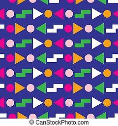 80, model, geometrisch ontwerp, seamless