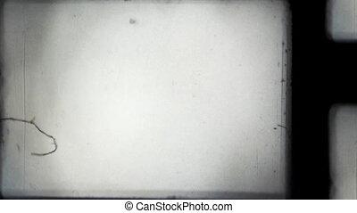 8mm, frame, offset., film projector