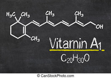 a1, bord, chemisch, vitamine, formule