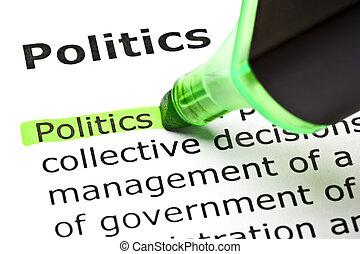 aangepunt, 'politics', groene