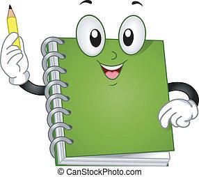 aantekenboekje, mascotte