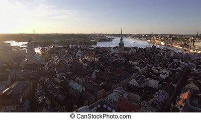 aanzicht, stockholm, stad