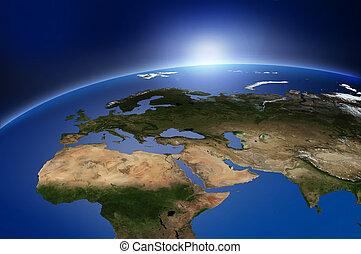 aarde, buitenste ruimte