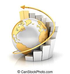 aarde, grafiek, zakelijk, 3d
