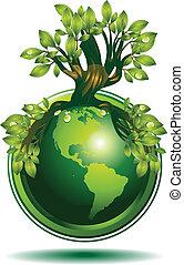 aarde, groene
