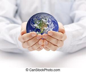 aarde, handen