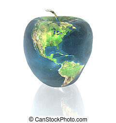 aarde, helder, appel, textuur