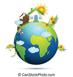 aarde, schoonmaken