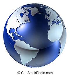aarde, structuur, 3d