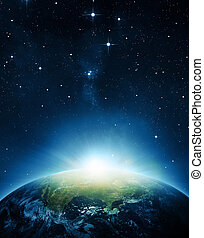 aarde, zonopkomst