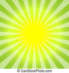 abstract, achtergrond, groen-geel, (vector)