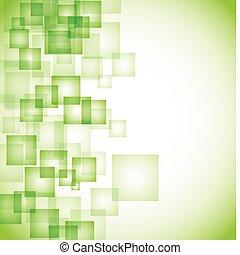 abstract, achtergrond, groene, plein