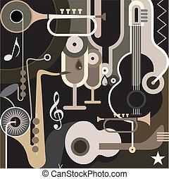 abstract, achtergrond, -, muziek, vector