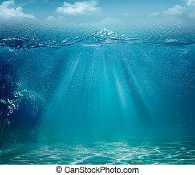 abstract, achtergronden, oceaan, ontwerp, zee, jouw
