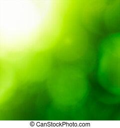 abstract, backgound, bokeh)., natuur, (green