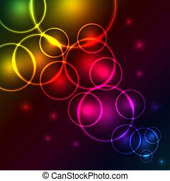 abstract, bellen, kleurrijke