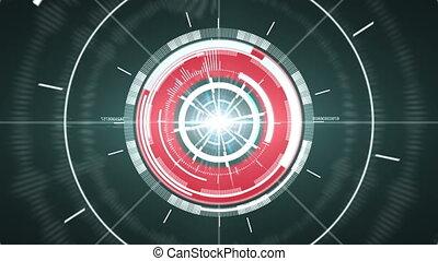 abstract, cirkel, element., hi-tech