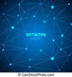 abstract concept, technologie, netwerk