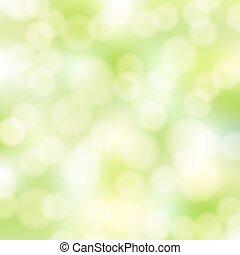 abstract, groene, bokeh, achtergrond