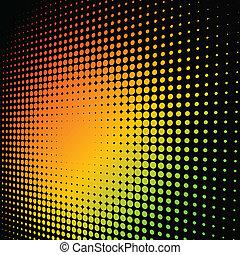 abstract, kleurrijke, achtergrond, halftone