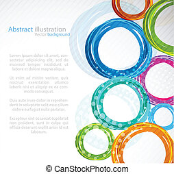 abstract, kleurrijke, cirkel