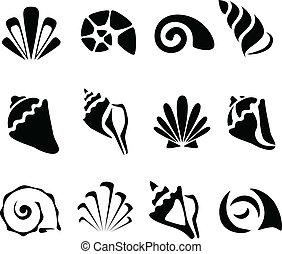 abstract, schaal, set, symbool